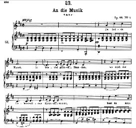 An die Musik D.574 in D Major, High Voice. F. Schubert (Pet.) | eBooks | Sheet Music