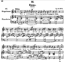 An Emma D.193 in F Major, High Voice. F. Schubert | eBooks | Sheet Music