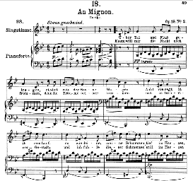 An Mignon D.161 Uber Tal und Fluss,  High Voice in G Minor, F. Schubert (Pet.) | eBooks | Sheet Music