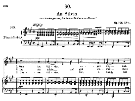 An Silvia D.891 in A Major, High Voice. F. Schubert (Pet.) | eBooks | Sheet Music