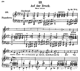 Auf der Brück D.833 in A Flat Major, High Voice. F. Schubert (Pet.) | eBooks | Sheet Music