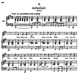 Aufenthalt D 957-5 n E Minor, High Voice. F. Schubert (Schwanengesang) Pet. | eBooks | Sheet Music