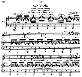 Ave Maria (Ellens Gesang III), D 839-3 n B Flat Major, High Voice. F. Schubert (Pet.) | eBooks | Sheet Music