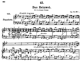 Das Heimweh D.851 in G Minor, High Voice. F. Schubert (Pet.) | eBooks | Sheet Music