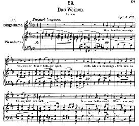 Das Weinen D.926 in D Major, High Voice.F. Schubert (Pet.) | eBooks | Sheet Music