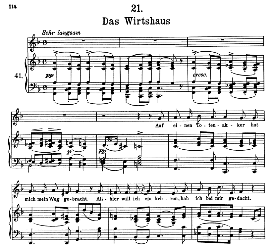 Das Wirtshaus D.911-21 in F Major, High Voice. F. Schubert (Winterreise).Pet. | eBooks | Sheet Music