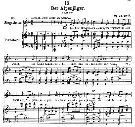 Der Alpenjäger D.524 in F Major, High Voice. F. Schubert. | eBooks | Sheet Music