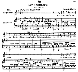 Der Blumenbrief D.622 High Voice in B Flat Major. F. Schubert (Pet.) | eBooks | Sheet Music