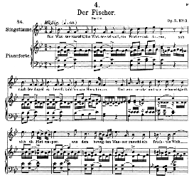 Der Fischer D.225, High Voice in B Flat Major, F. Schubert (Pet.) | eBooks | Sheet Music