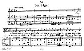 Der Jäger D.795-14, High Voice in C Minor, F. Schubert (Die Schöne Müllerin). Pet | eBooks | Sheet Music