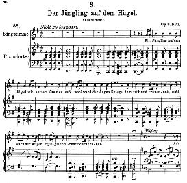 Der Jüngling auf dem Hügel D.702, High Voice in D Minor, F. Schubert (Pet.) | eBooks | Sheet Music