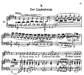 Der Lindenbaum D.911-5, High Voice in E Major, F. Schubert (Winterreise) Pet. | eBooks | Sheet Music