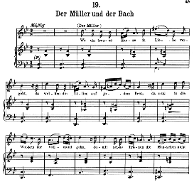 Der Muller und der Bach D.795-19, High Voice in G Minor, F. Schubert (Die Schöne Müllerin).Pet. | eBooks | Sheet Music