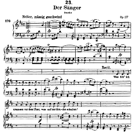 Der Sanger D.149, High Voice in D Major, F. Schubert (pet.) | eBooks | Sheet Music