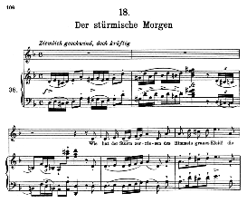 Der stürmische Morgen D.911-18, High Voice in D Minor, F. Schubert (Winterreise) Pet. | eBooks | Sheet Music