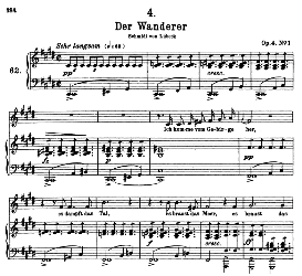 der Wanderer D.493, High Voice in C Sharp Minor, F. Schubert  (Pet.) | eBooks | Sheet Music
