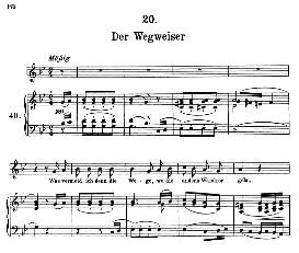 Der Wegweiser D.911-20 in G Minor, F. Schubert (Winterreise) Pet. | eBooks | Sheet Music