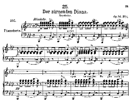 Der zürnender Diana D.707, High Voice in A Flat Major, F. Schubert  (Pet.) | eBooks | Sheet Music