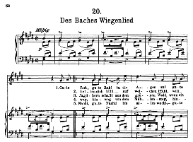 Des Baches Wiegenlied D.795-20, High Voice in E Major, F. Schubert (Pet.) | eBooks | Sheet Music