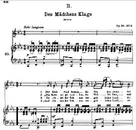 Des Madchens Klage D.191, High Voice in C Minor, F. Schubert (Pet.) | eBooks | Sheet Music