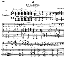 Die Allmacht D.852, High Voice in C Major, F. Schubert (Pet.) | eBooks | Sheet Music