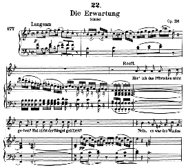 Die Erwartung D.159 in B Flat Major, High Voice, F. Schubert  (Pet.) | eBooks | Sheet Music