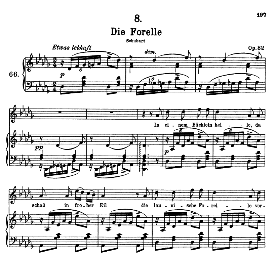 Die Forelle D.550, High Voice in D Flat Major, F. Schubert (Pet.) | eBooks | Sheet Music