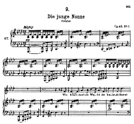 Die junge Nonne D.828,  High Voice in F Minor, F. Schubert (Pet.) | eBooks | Sheet Music