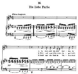 Die liebe Farbe D.795-16, High Voice in B Minor, F. Schubert (Die Schöne Müllerin) | eBooks | Sheet Music