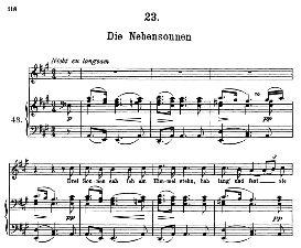 Die Nebensonnen D.911-23, High Voice in A Major, F. Schubert (Winterreise) Pet. | eBooks | Sheet Music