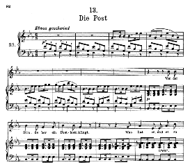Die Post D.911-13, High Voice in E Flat Major, F. Schubert (Winterreise) Pet. | eBooks | Sheet Music