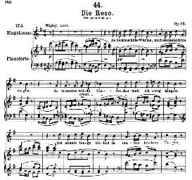 Die Rose D.745, High Voice in G Major, F. Schubert  (Pet.) | eBooks | Sheet Music