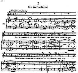 Die Wetterfahne D.911-2 High Voice in A Minor, F. Schubert Schwanengesang) Pet. | eBooks | Sheet Music