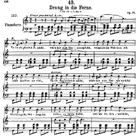 Drang in die Ferne D.770, High Voice in A Minor, F. Schubert (Pet.) | eBooks | Sheet Music