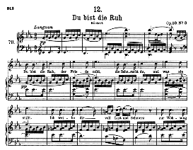 Du bist die Ruh D.776, High Voice in E Flat Major, F. Schubert (Pet.) | eBooks | Sheet Music