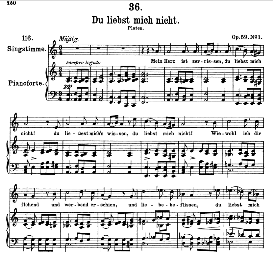 Du liebst mich nicht D.193, High Voice in A Minor, F. Schubert (Pet.) | eBooks | Sheet Music
