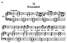 Einsamkeit D.911-12, High Voice in B Minor, F. Schubert (Winterreise) Pet. | eBooks | Sheet Music