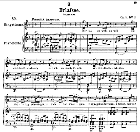 Erlafsee D.586 in F Major, High Voice, F. Schubert  (Pet.) | eBooks | Sheet Music