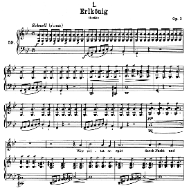 Erlkönig D.328, High Voice in G Minor, F. Schubert (Pet.) | eBooks | Sheet Music