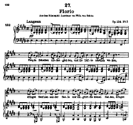 Florio D.857-1 , High Voice in E Major, F. Schubert (Pet.) | eBooks | Sheet Music
