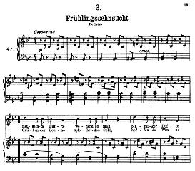 Frühlingssehnsucht D.957-3, High Voice in B Flat Major, F. Schubert (Schwanengesang) Pet. | eBooks | Sheet Music