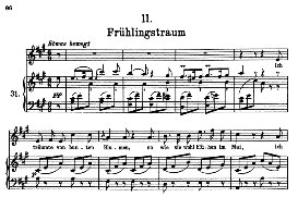 Frühlingstraum D.911- 11, High Voice in A Major, F. Schubert (Winterreise) Pet. | eBooks | Sheet Music