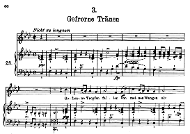 Gefrorne Tränen D.911-3, High Voice in F Minor, F. Schubert (Winterreise) Pet. | eBooks | Sheet Music