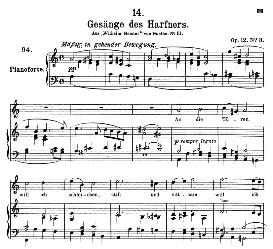 Gesänge des Harfners D.478-3, High Voice in A Minor, F. Schubert (Pet.) | eBooks | Sheet Music