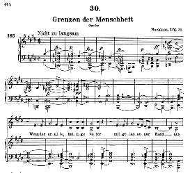 grenzen der menscheit d.716, high voice in e major, f. schubert