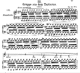 Gruppe aus dem Tartarus D.583, High Voice in D Major, F. Schubert. (Pet.) | eBooks | Sheet Music