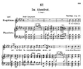 im abendrot d.799, high voice in a flat major, f. schubert (pet.)