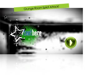 Grunge Room Splat Attack | Software | Software Templates
