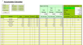 Odds Calculator Accumulator/Parlay Excel xls Spreadsheet | Documents and Forms | Spreadsheets