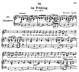 im frühling d.882, high voice in g major, f. schubert (pet.)